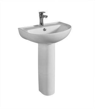 Wash basin pedestal sink