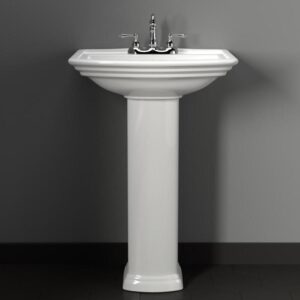 Tifton 100 Vitreous China Pedestal Sink