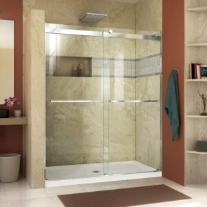 Frameless Bypass Shower